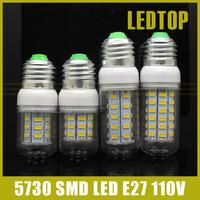 Newest led bulb Lowest Price E27 9W 12W 15W 25W SMD 5730 110V 127V lights 36LEDS 56LEDs Corn Bulbs lamp Energy Efficient Lampada