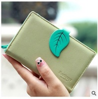 2014 New Arrival Short Design PU  Leather Purse Muiltfunction Women Cute Wallets Clutch