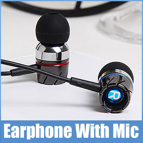 High Quality Brand HST-35 In Ear Bass Earphone With Microphone Metal Headphone With Mic For iPhone Samsung Lenovo Huawei JIAYU(China (Mainland))