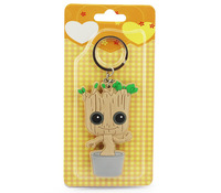 Free Shipping Guardians of the Galaxy Tree People Groot Rubber Keychain Pendants 8cm With Blister Card