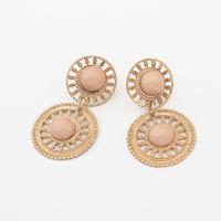 2015 new arrival europe hot selling region amorous feelings hollow out drop earrings acrylic beads bohemia earrings