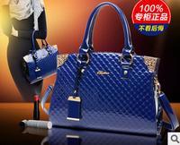 Fashion female bag patent leather embossed PU Europe style women's shoulder bag handbag
