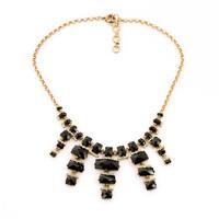 Black White Resin Stone Pendants Fashion Collar Tassel Necklace Factory Wholesale