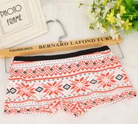 Hot Sale! 3Pcs/lot Soft Cotton Underwear Women Panties Fashion Print Briefs 6 Colors for Choose
