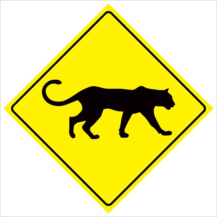 Pas169 пантера приятель пересечения дорожного движения безопасности предупреждение металлический знак 12