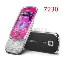 7230 Original Nokia 7230 mobile phone 3 2MP Camera Bluetooth FM JAVA MP3 Support Russian keyboard
