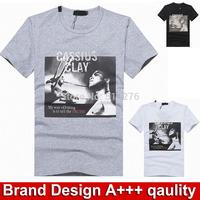 Brand designer men's shirts 2014 men fashion tshirts summer clothing short sleeve men's clothing M~XXL t shirt men brand shirts