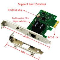1000Mbps Gigabit Ethernet PCI Express PCI-E NIC RTL8168 Network Card RJ-45 RJ45 LAN Adapter Converter Network Controller