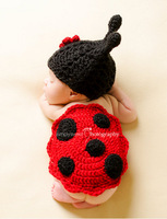 Brand New  cute beetle baby hat handmade crochet photography props baby hat