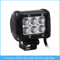 "4"" inch 18W Cree LED Work Light Bar Lamp for Motorcycle Tractor Boat Off Road 4WD 4x4 Truck SUV ATV Spot Flood 12v 24v H2272"