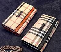 Carteira Feminina 2015 New PU Leather Wallet Brand Design High Quality Women Purse Vintage Plaid Long Wallet Women Clutch bag