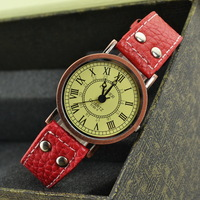 England Fan student fashionable watches ladies watches Continental belt scale retro Korean version old Roman female watches