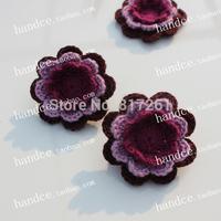 12 pic/lot free shipping IKEA fashion crochet applique clothes decor flower applique paches de flores sew on patches 3d flowers
