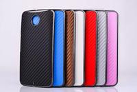 10pcs/lot 7 color Carbon Fiber Case for Motorola Nexus 6 Hard Back Cover for Google Nexus 6 mobile phone case