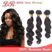 Peruvian Virgin Hair Loose Wave Unprocessed Human Hair Extension Grade 6A Peruvian Loose Wave 3 pcs Hair Bundles Free Shipping