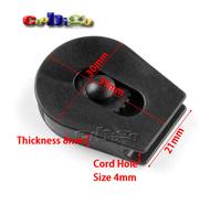 "20pcs 1/8""(4mm)Cord Lock Ends Stopper Drawstring Sliding Plastic Wheel Pull-Strings Stopper For Shoe Cloth Bag #FLS094C"