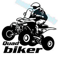 Car decal  cool motorcycle quad biker 15cm x 13.5cm motorcycle car truck ebike vinyl reflective waterproof stickers