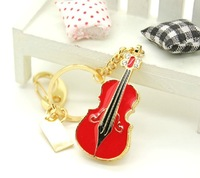 Crystal Violin Personalized Keychain Gift Jewelry Usb Flash Drive 8GB 16GB 32GB 64GB Pen Drive Pendrive Flash Card Memory Stick