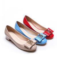 Zapatos de mujer Plus Size Fashion Creeper Womens Ballet Shoes Patent Leather Round Toe Ballerina Flats Sapatos Femininos Baixo