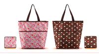 Kawaii Bokwnot Love Heart Hello Kitty Folding Women Bag  Women Shop Bag Handbag
