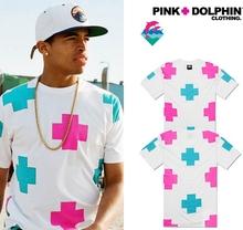 Summer Pink dolphin diamond Street Cool T-shirt Hip Hop Skate Man Rock Casual Shirt Men Marvel Summer Crewneck T Shirts