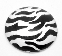 Free Shipping Wholesale 15pcs Black and white stripes Pattern Oval Glass Dome Seals Cabochon Fit Cameo Settings25mm R0189325