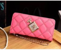 2015 Fashion Women perfume bottle wallet zipper carteira feminine monederos clutch long design womens purse carteras mujer l1477