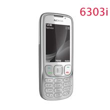 Refurbished Original Unlocked Nokia 6303 mobile phone black and silver color for you choose Refurbished