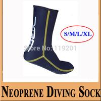 Neoprene 3mm Neoprene Socks Diving Equipment Wetsuit Socks Diving equipment diving shoes S/M/L/XL for women/men 5pcs/1lot