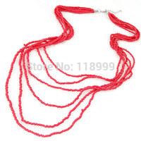 2015 Hot Sale Jewelry Layered Acrylic Beads Necklace Multi-layers Necklace Fashion Jewelry