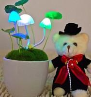 LED Free shipping New Style 2015 Lamp Mushroom Night Light frozen New strange gift LED light nachtlampje Lamp