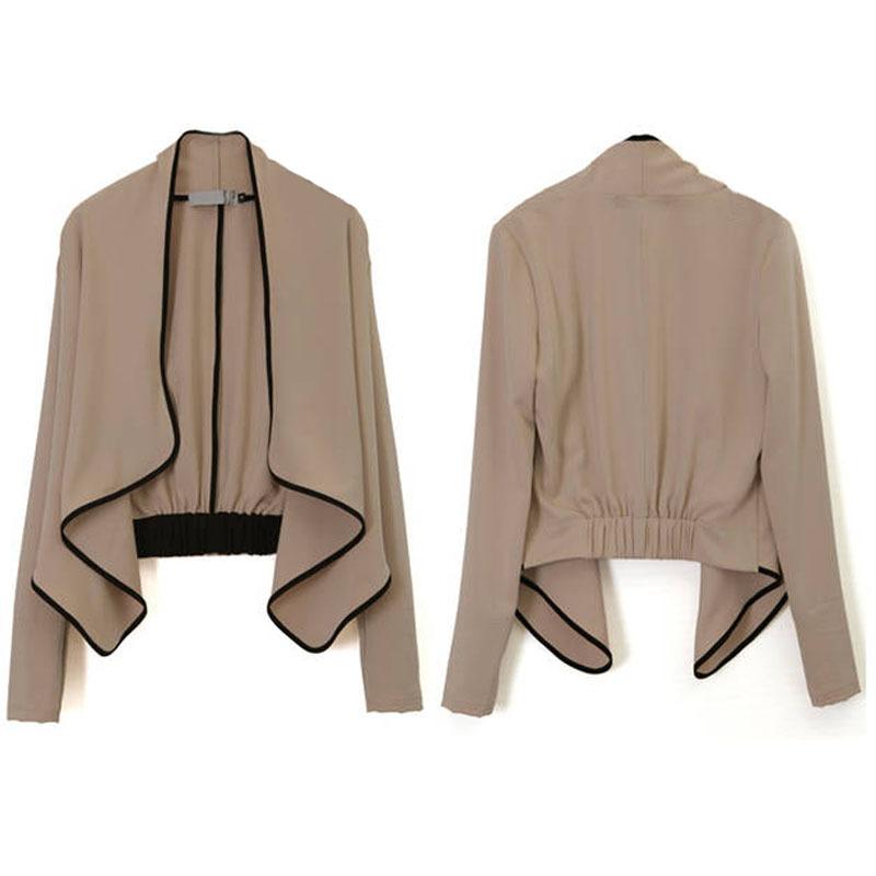 Jacket With Peplum Pattern Belt Peplum Slim Jacket