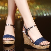 2015 Summer Women Wedges Platform Sandal Female Sandals Shoes 30 31 32 33 40 41 42 sy-1040