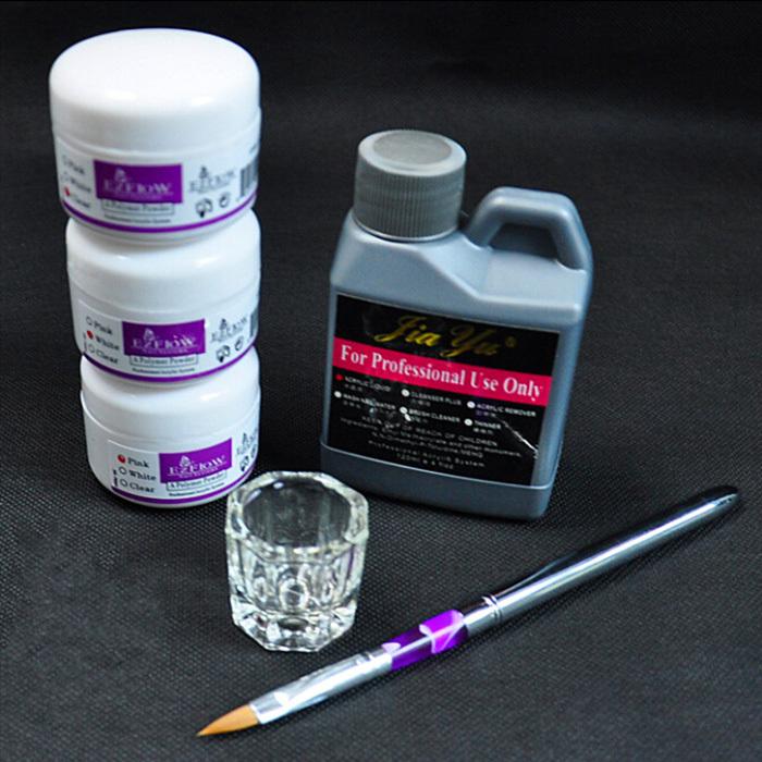 Nail Art Tools DIY Kit Nail Kit Acrylic Liquid Powder Pen Dappen Dish(China (Mainland))