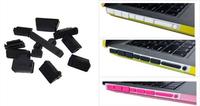 New arrival wholesale 13pcs/set  Universal PC laptop dustproof plug Silicone usb dust plug Anti Dust Plug Cover Set Stoppers