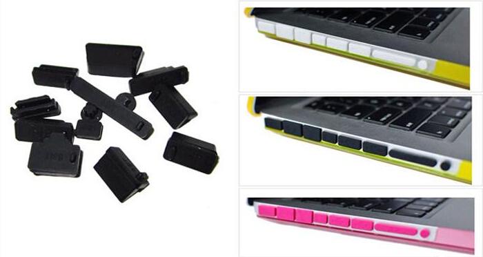 New arrival wholesale 13pcs/set Universal PC laptop dustproof plug Silicone usb dust plug Anti Dust Plug Cover Set Stoppers(China (Mainland))