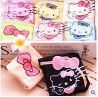 (6 Pcs/Lot) Many Colors Option Kawaii Printing Bowknot Hello Kitty Cotton Lady Women Underwear