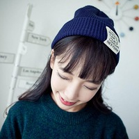 Free Shipping 2015 Women Hats Autumn Winter Beanie Hats For Women Letter Printed Caps Knitted Beanies Warm Hat Candy Colors Caps