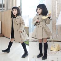 2015 Baby Girls Windbreaker Trendy Toddler Baby Girl Lapel Shawl Trench Coat Jacket Slim Windbreaker Outwear Free Shipping