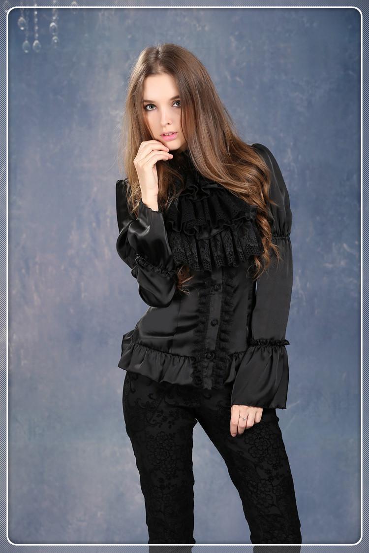 Zwarte Gothic Blouse 56