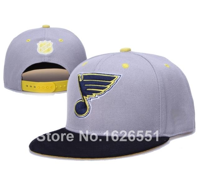 Men's sport team hats STL flat brim St. Louis Blues ice hockey adjustable snapback cap(China (Mainland))