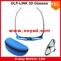 2014 New 144Hz Rechargeble Universal DLP link active 3D glasses case packed for BENQ Acer,Vivitek,Optoma free ship