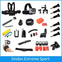 Accessories Set For Gopro Helmet Harness Chest Belt Head Mount Strap Go pro hero3 Hero4 Hero2 2 3 3+ 4 Sj4000 Black Edition Kit