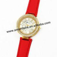 Geneva Casual Quartz Rhinestone Watches Fashion Women Dress Watch Wholesale Classic High Quality Gold Leather Wristwatch