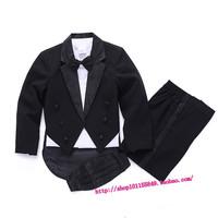 2015 NEW Kid Boys tuxedo child performance wear Child Suits Formal Black Tuxedo For Wedding Flower Boy Costumes