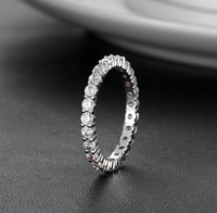 2014 New simpie rings for womenDiamond ring certified doods wedding silver jewelry 935