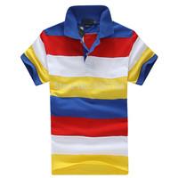 2014 New Fashion brand Short Sleeve Men Polo Ralph Men Cotton Casual Breathable Fitness stripes Men Polo Shirts #1025