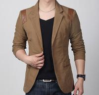 Men's Fashion Business Blazer Suit Jacket Men Slim blazer Fit Jacket Coat Long-sleeved Button Suit