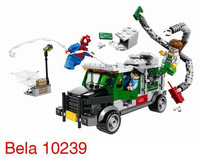 BELA 10239 Children's educational toy building blocks assembled Avengers League Spiderman and large trucks