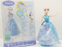 23cm Music light elsa princess Figure toys Play Set Anna tell story Classic Toys musical electronic doll girl gift